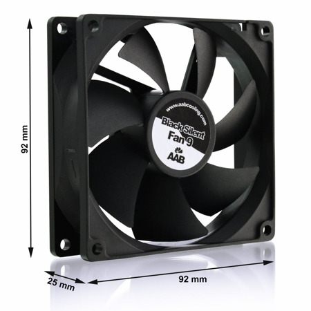 AABCOOLING Black Silent Fan 9